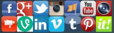mosaique des logos des reseaux sociaux