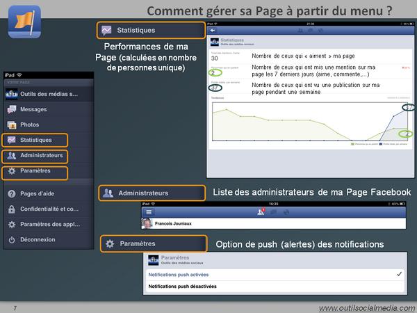 Comment voir les administrateurs et les paramètres de ma page Facebook