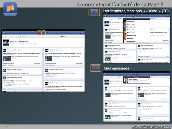Comment lire les notifications et les messages sur ma page Facebook