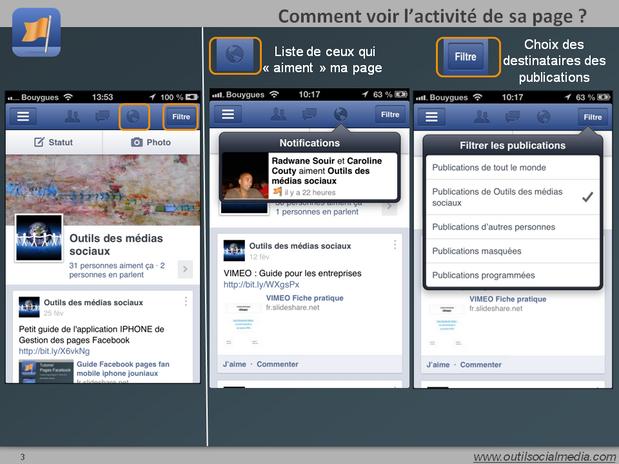 Comment voir les notifications sur sa page : les likes et les commentaires